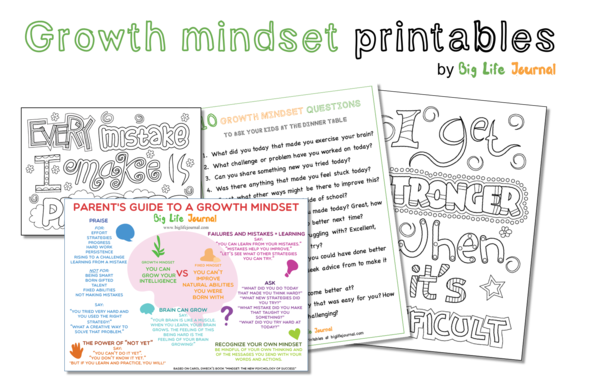 Growth Mindset Free Printables